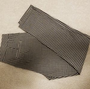 High Waisted Gingham Style Trousers